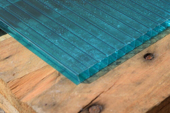 4mm Polycarbonate Roofing Sheet Lake Blue Various Size 10 Year Warranty Double Side UV Protection