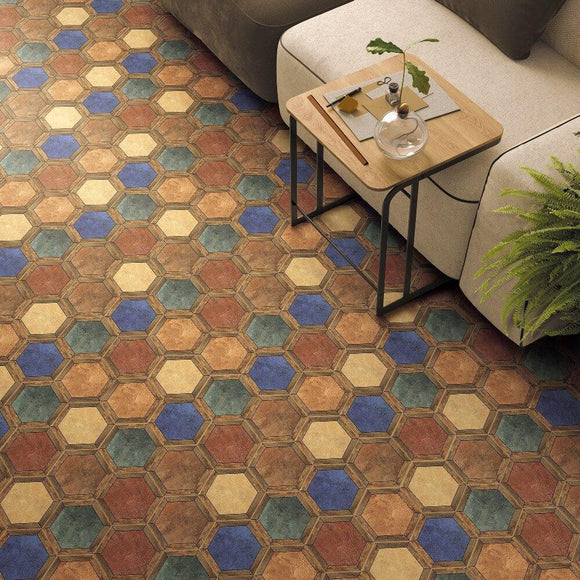 Marmaris Bazaar Hexagon Matt Ceramic 200x230mm Wall and Floor Tile Square Metre Price is £29.90