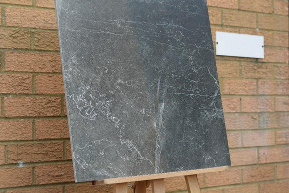 Regal Onyx Nero Rectified Polished Glazed Porcelain 600x600mm Wall and Floor Tiles Square Metre Price is £18.50 - undergroundflooring.co.uk