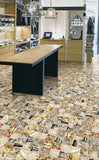 Retro Clippings Matt Ceramic 300x300mm Wall and Floor Tile Our Lowest SQM Price Ever £11.28 - undergroundflooring.co.uk