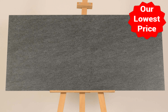 Sandstone Grafito Matt Porcelain 600x1200mm Wall and Floor Tile (6512) Our Lowest SQM Price Ever £19.90 - undergroundflooring.co.uk