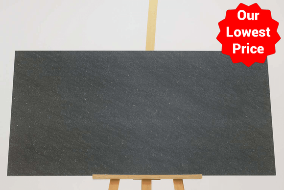 Satto Black Matt Porcelain 600x1200mm Wall and Floor Tile (12595) Our Lowest SQM Price Ever £19.90 - undergroundflooring.co.uk