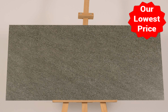 Satto Grey Matt Porcelain 600x1200mm Wall and Floor Tile (12596) Our Lowest SQM Price Ever £19.90 - undergroundflooring.co.uk