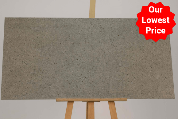 Satto Silver Matt Porcelain 600x1200mm Wall and Floor Tile (12594) Our Lowest SQM Price Ever £19.90 - undergroundflooring.co.uk