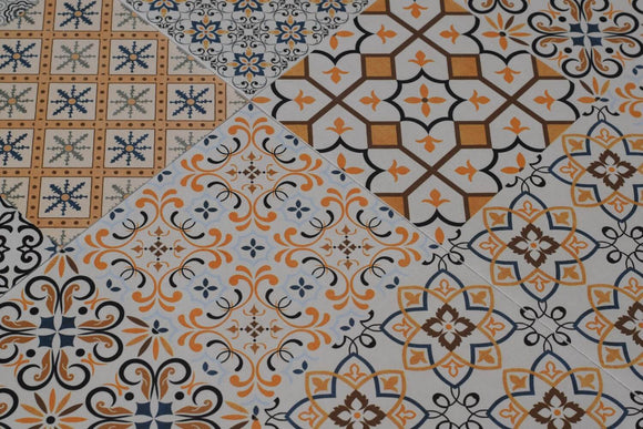Victorian Andalusia Rectified Matt Ceramic 300x300mm Wall and Floor Tile Square Metre Price is £19.91