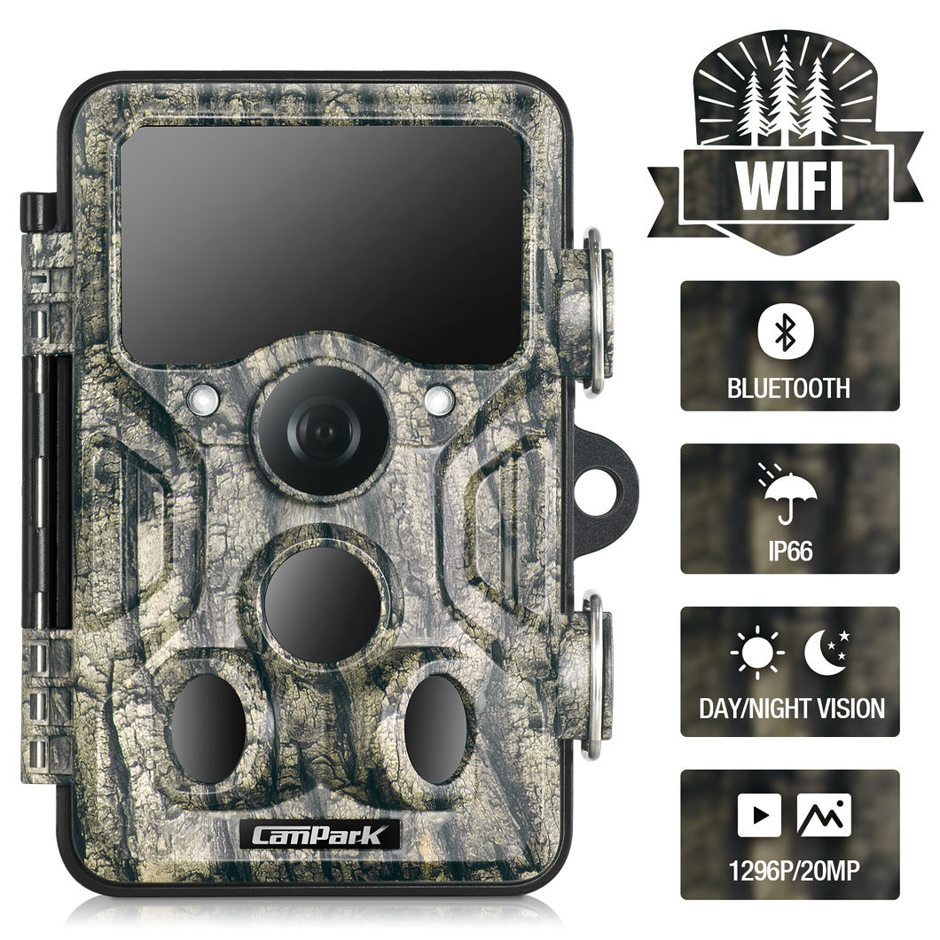 Campark T86 20MP 1296P WiFi Bluetooth Trail Camera - Freedom USA Sales