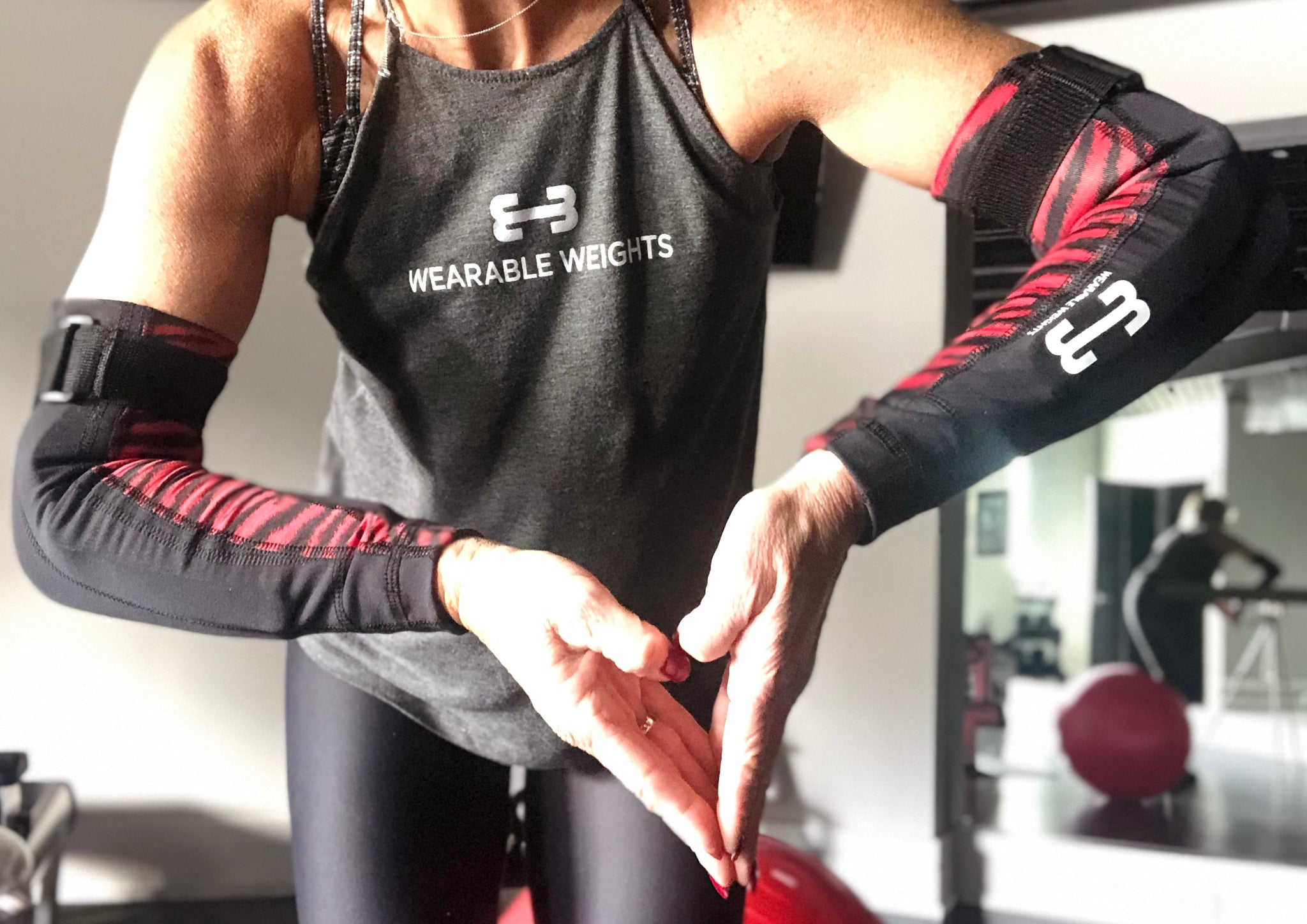 RED ZEBRA COMPRESSION SLEEVE ARMS