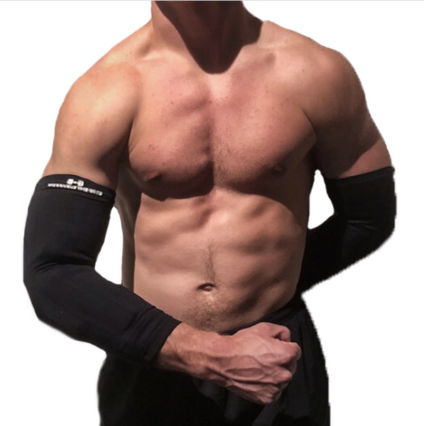 MEN'S BLACK COMPRESSION SLEEVE ARMS