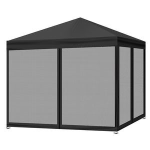 Mountview Pop Up Gazebo with Mesh Side Walls in Black Colour