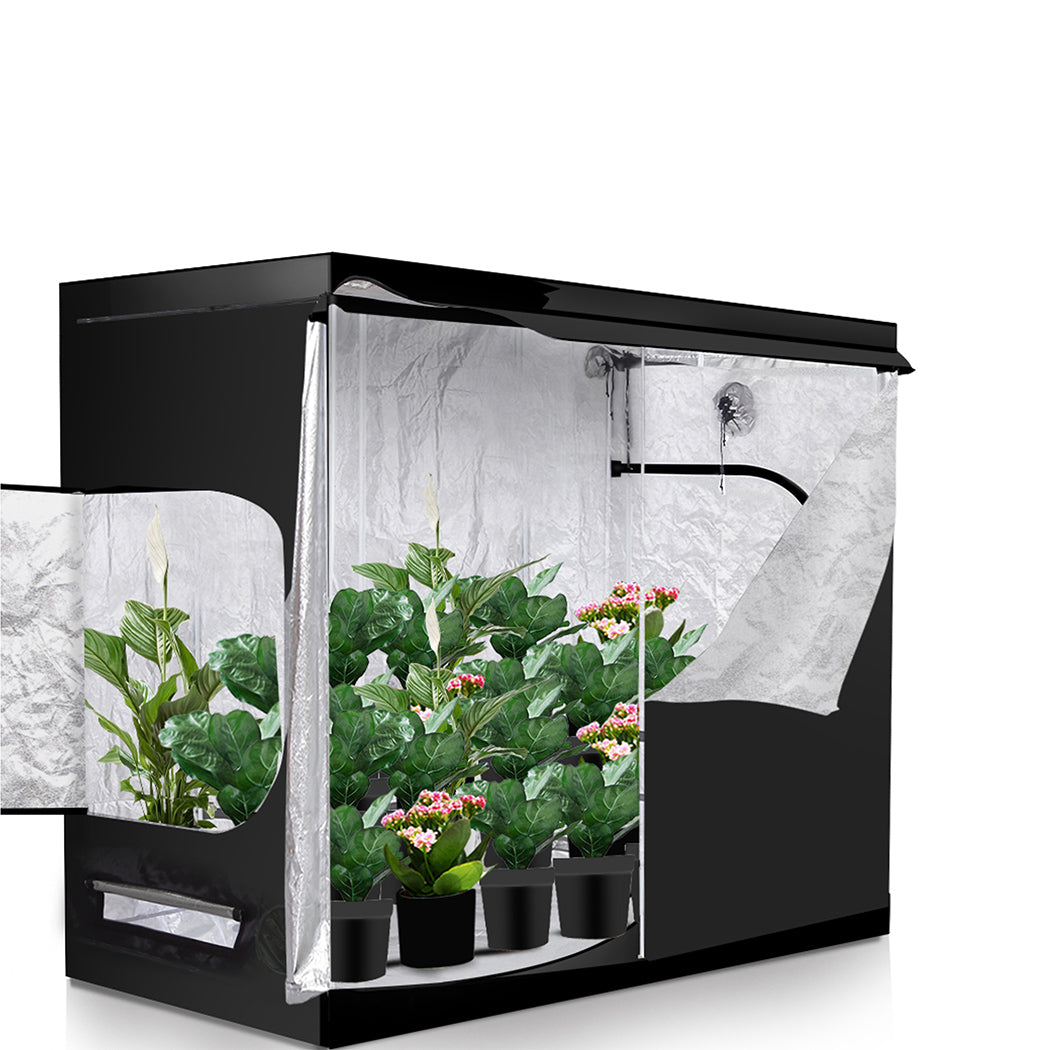 Hydroponics Plant Grow Tent with Reflective Aluminum Oxford Cloth in Size 100x100CM