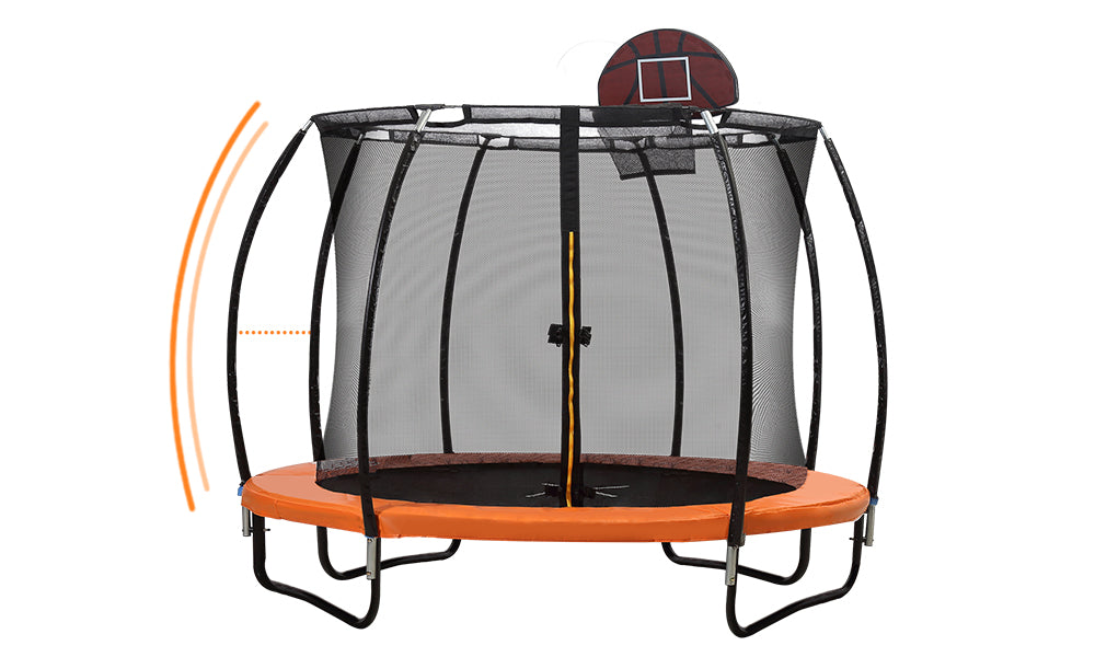 Trampoline Basketball Set