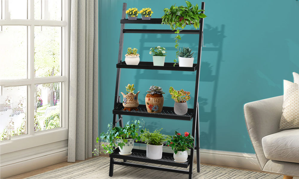 4-Tier Levede Plant Stand