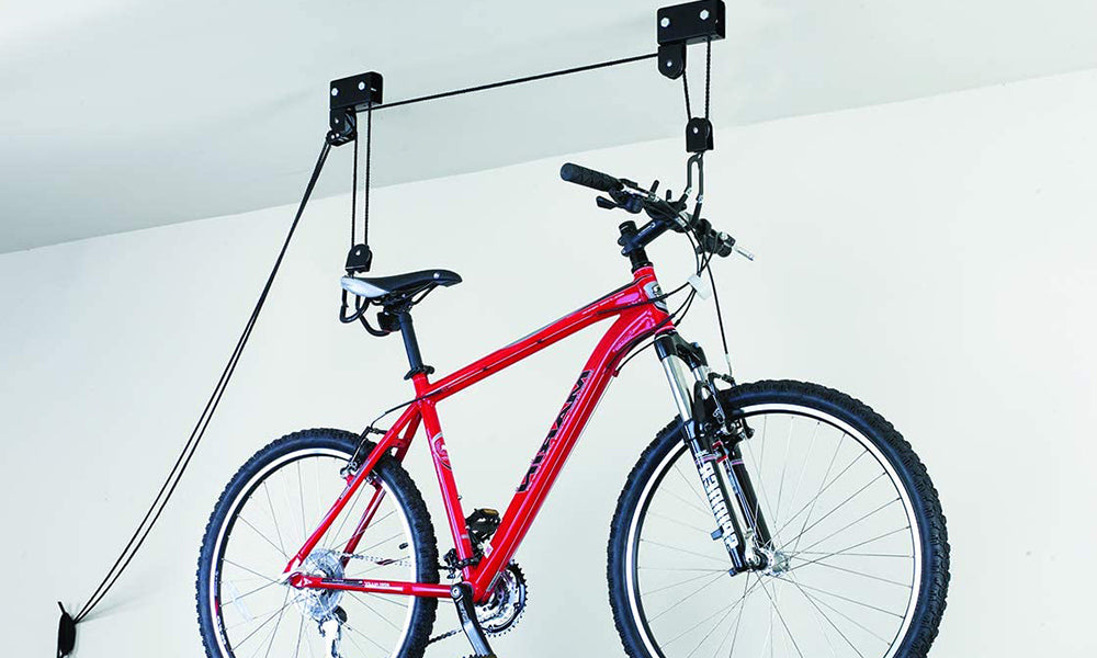 Bike Lift Pulley System