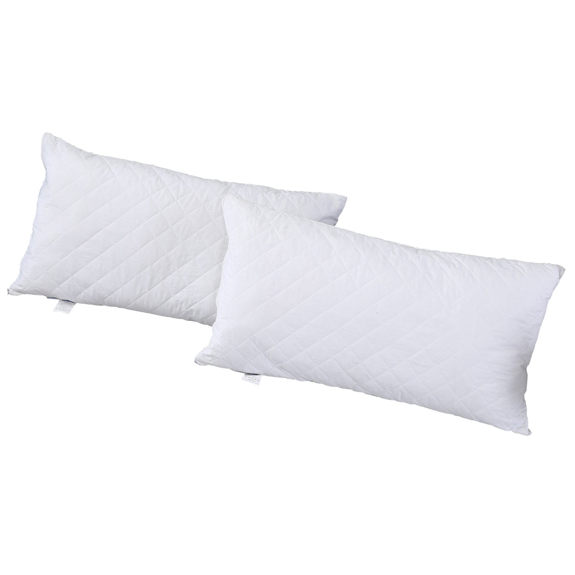 2x Quilted Pillow Protector