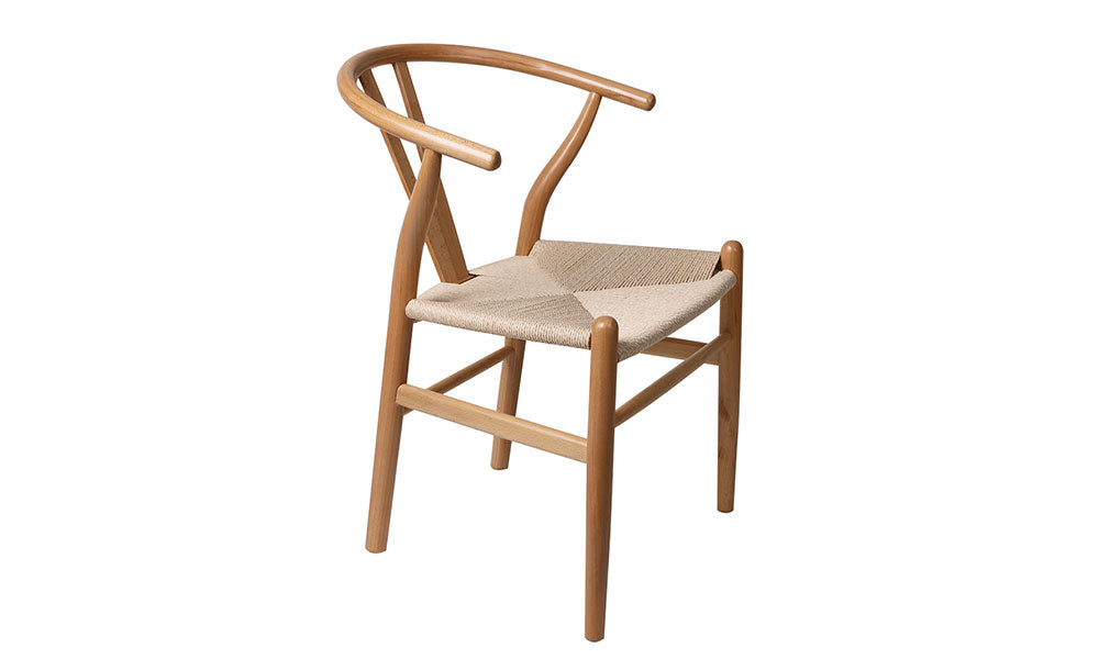 Set of 2 Wooden Bohemian Ratan Dining Chair