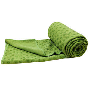 Green Non-slip Yoga Towel Mat Eco-friendly Large Blanket And Mesh Carry Bag