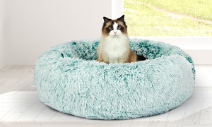 Pet Calming Bed with Removable Cover