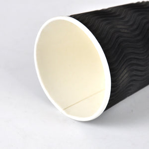500 Pcs 8oz Disposable Takeaway Coffee Paper Cups Triple Wall Take Away w Lids