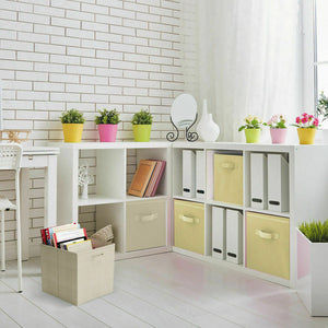 9 Pcs Foldable Storage Box Cube Bin Shelving Unit Fabric Cube Kids Toy Organiser