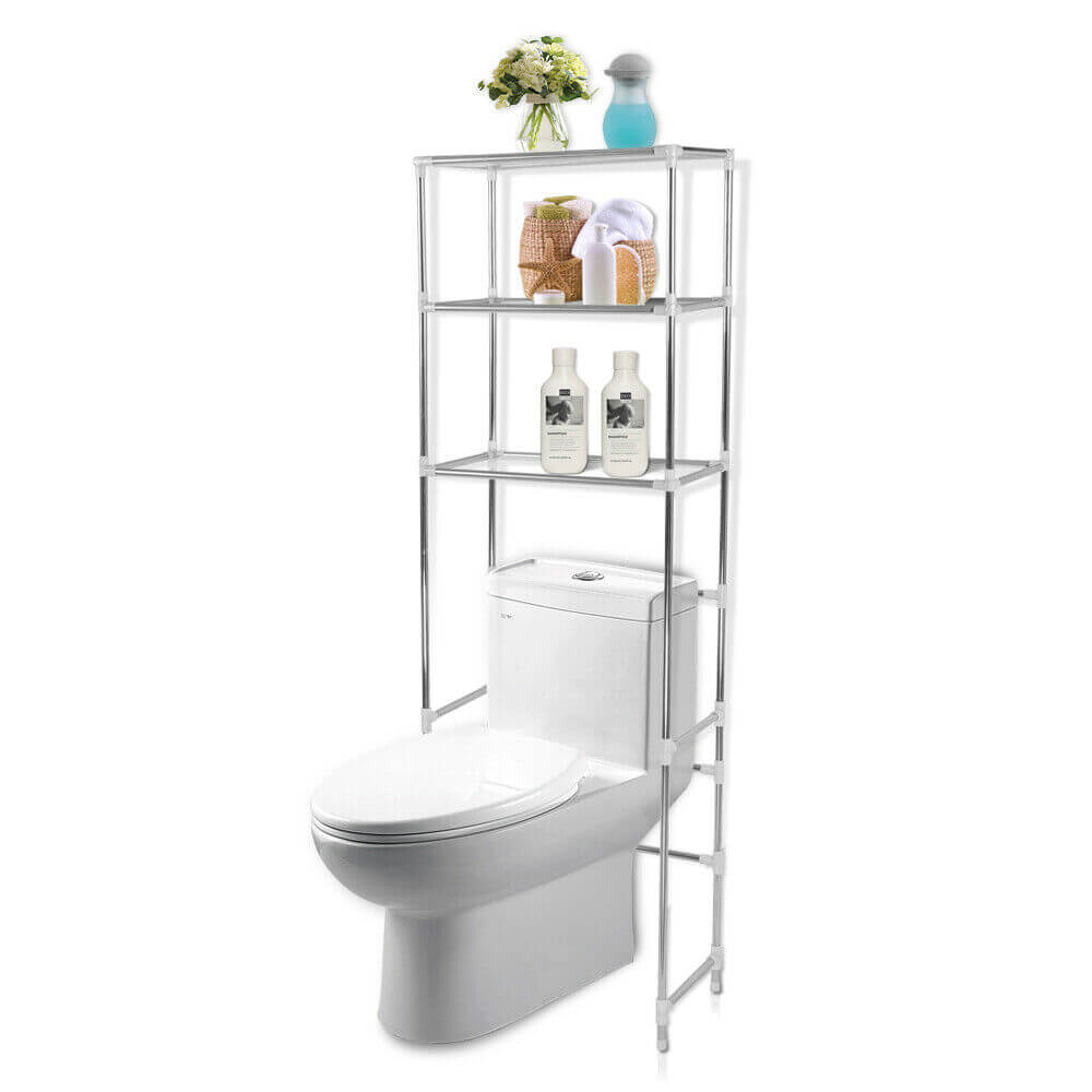 3 Tier Toilet Bathroom Laundry Washing Machine Storage Rack Shelf Unit Organizer