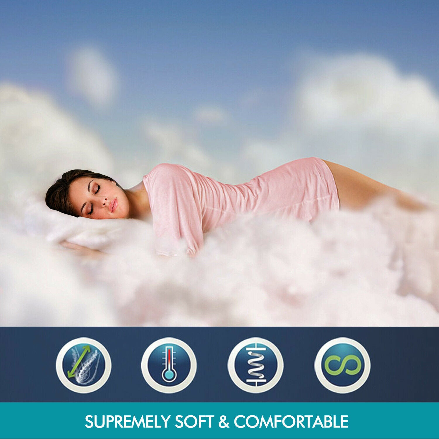 DreamZ 700GSM All Season Goose Down Feather Filling Duvet in Queen Size