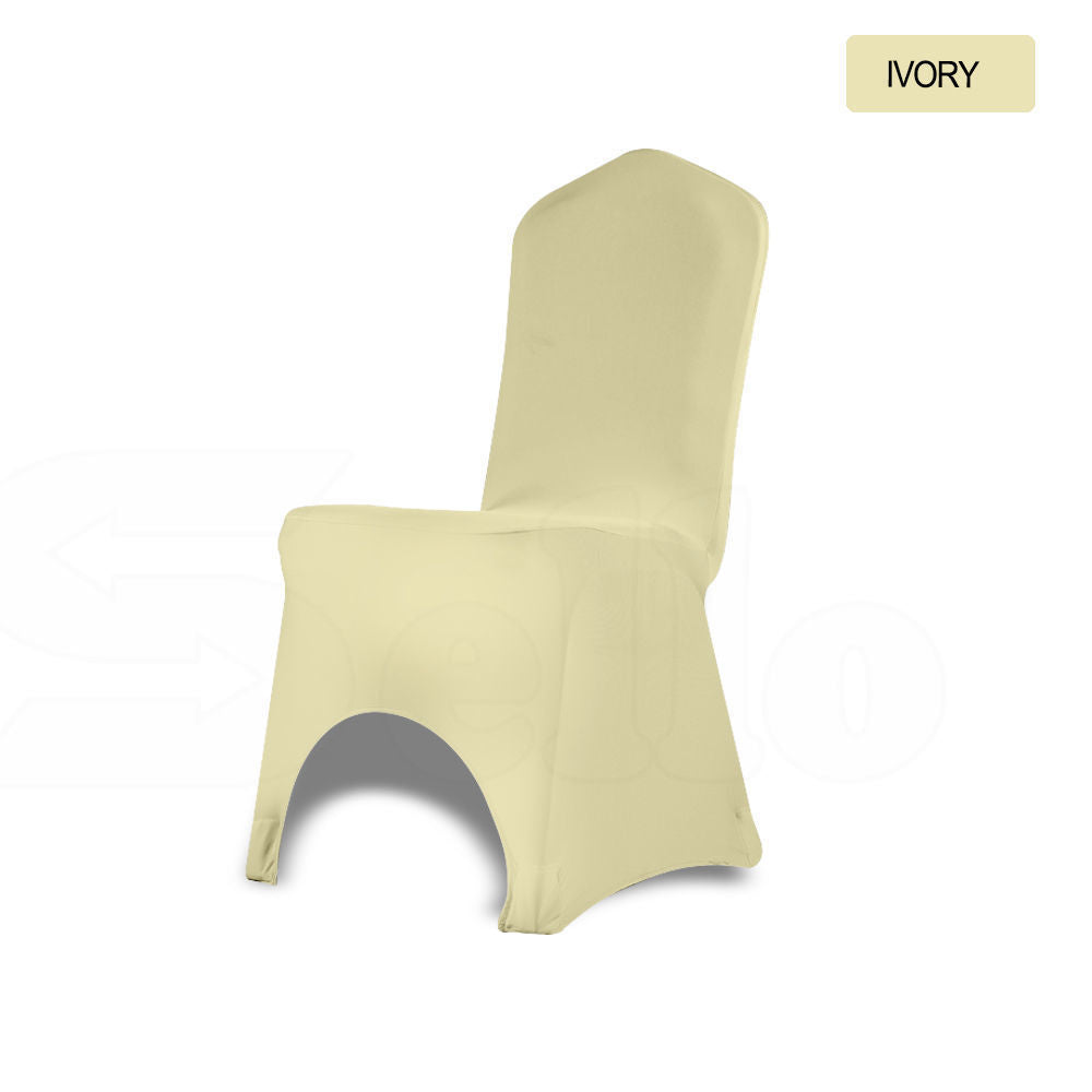 10x Chair Cover Spandex Lycra Stretch Banquet Wedding Party Ivory Colour