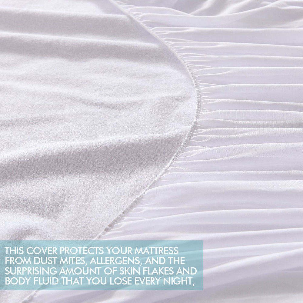 DreamZ Terry Cotton Fully Fitted Waterproof Mattress Protector King Single Size