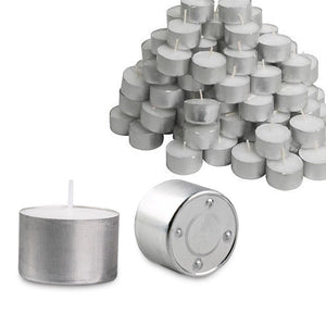 100x Tea Light Candles 9 Hour Bulk Tealights Unscented Candle Lights Wedding