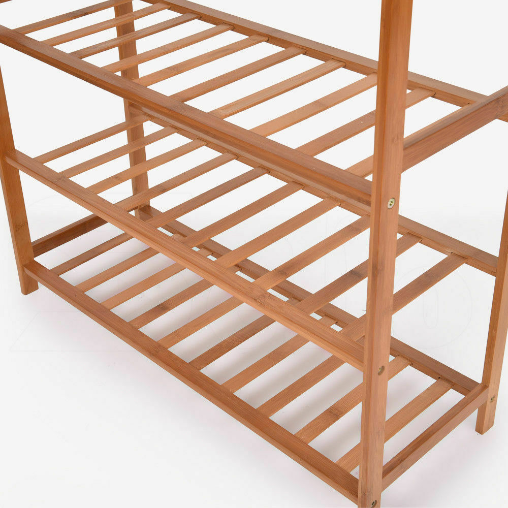 Levede 5 Tiers Bamboo Shoe Rack Storage Organizer Wooden Shelf Stand Shelves