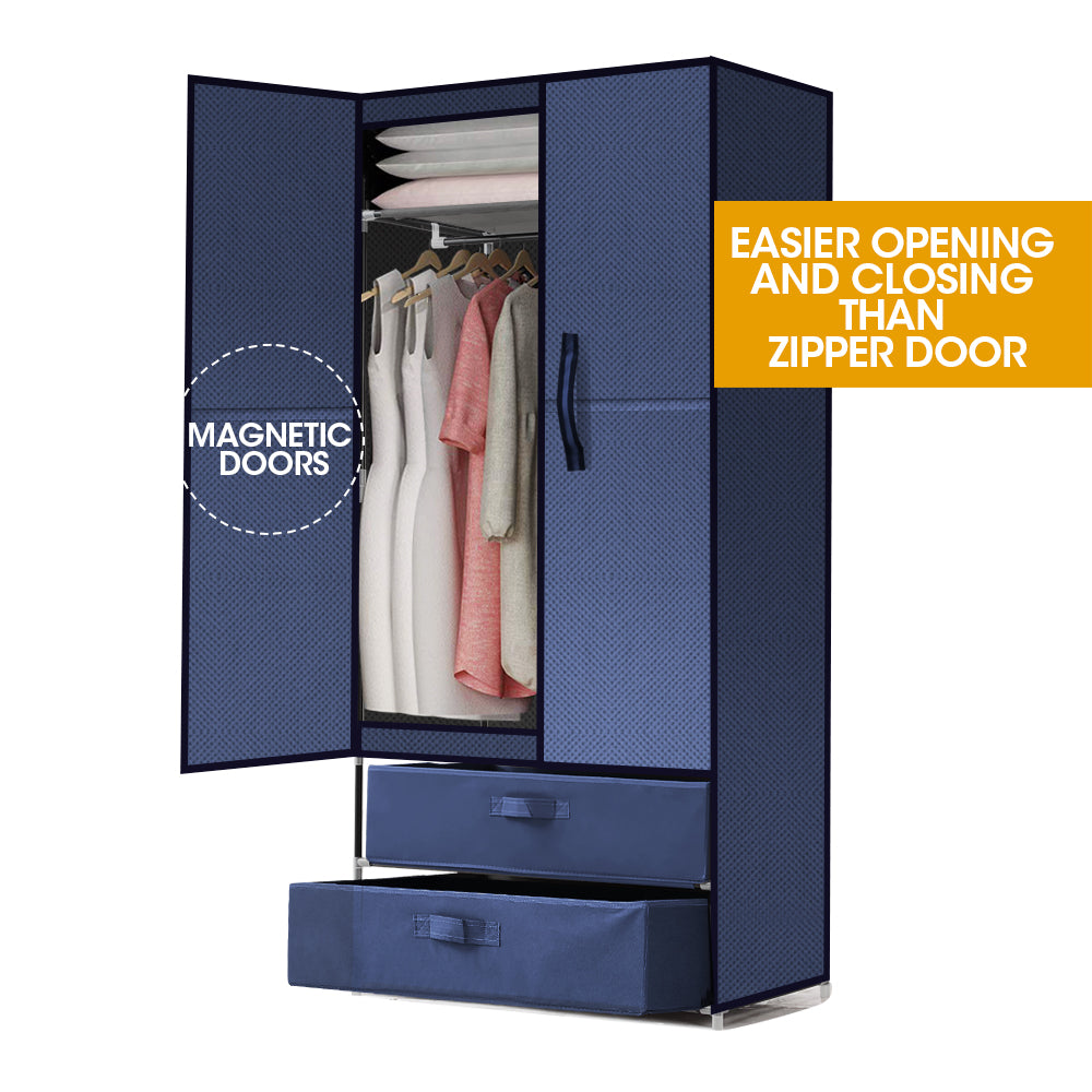 Levede Portable Wardrobe Clothes Closet Storage Cloth Organiser Unit Shelf Rack
