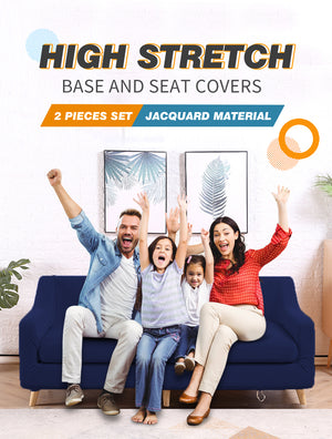 DreamZ Couch Sofa Seat Covers Stretch Protectors Slipcovers 3 Seater Navy