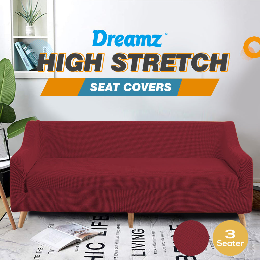 DreamZ Couch Stretch Sofa Lounge Cover Protector Slipcover 3 Seater Wine