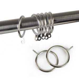Extendable 190-380cm Metal Curtain Rod with Metal Ball in Sliver Colour
