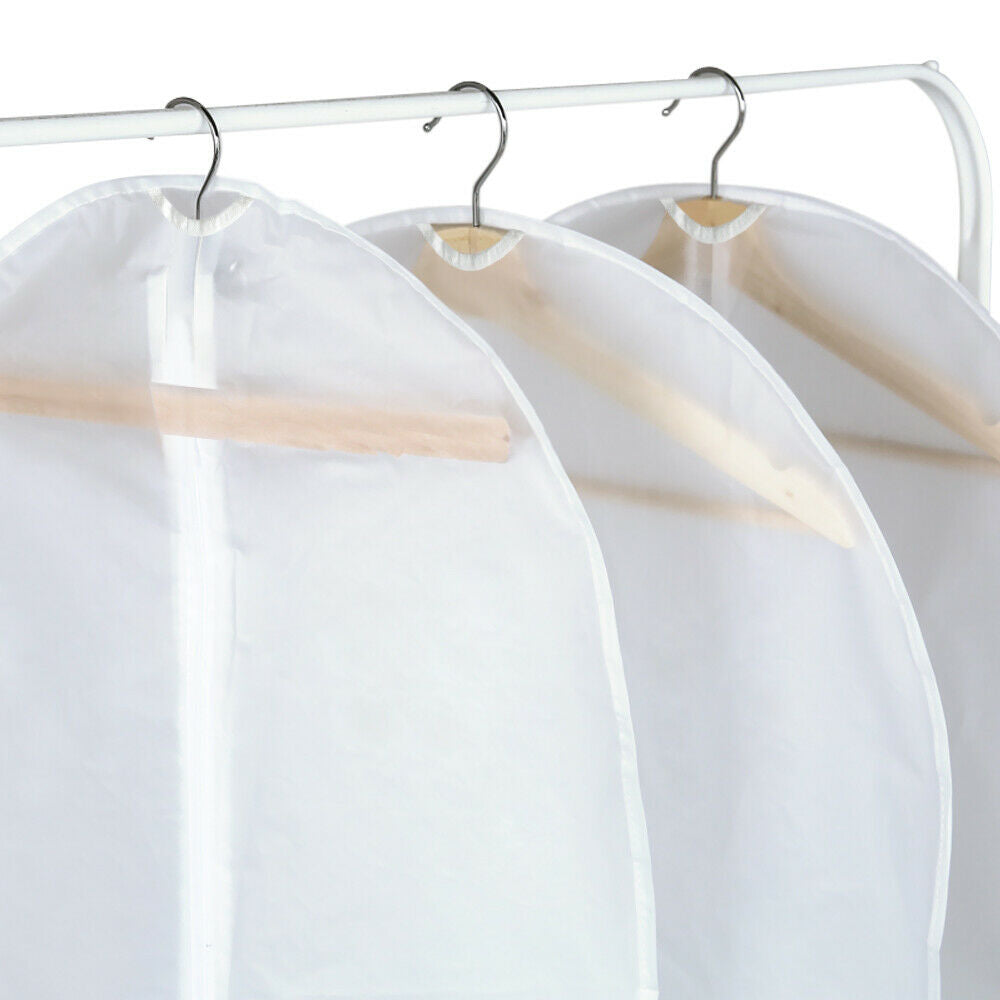 10x Suit Cover Bags Jacket Garment Storage Clothes Dress Coat Protector 120x60cm
