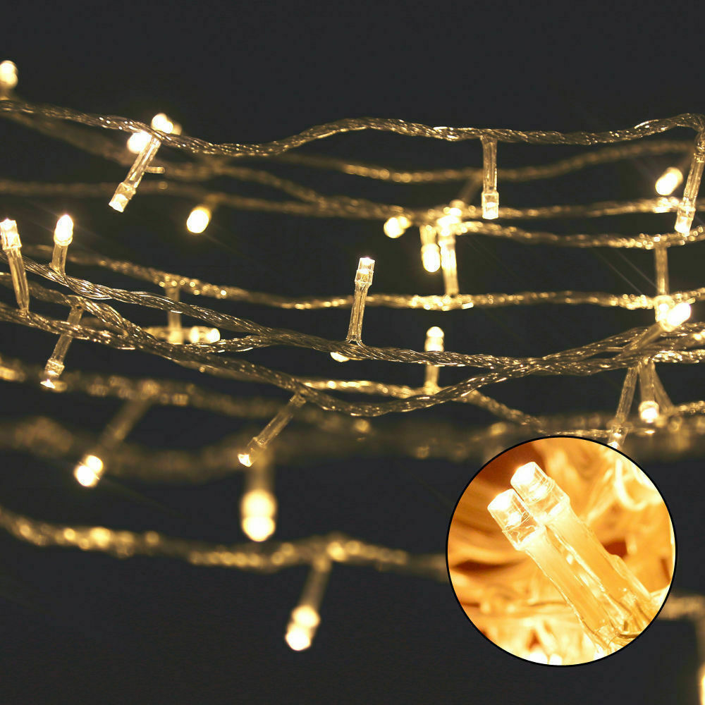 Christmas LED String Fairy Lights Net Mesh Outdoor Decor Xmas Wedding Home Party