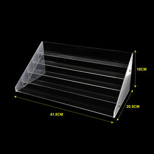 5 Tier Clear Acrylic Nail Polish Varnish Cosmetics Display Stand Rack Organiser