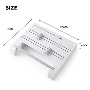 6in1 Wall Mounted Kitchen Rack Towel Holder Foil Roll Organizer Film Dispenser