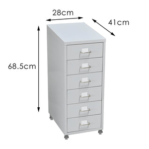 6 Tiers Steel Orgainer Metal File Cabinet With Drawers Office Furniture White