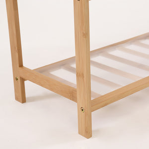 Bamboo Shoe Rack with PVC mat and Design for Boots