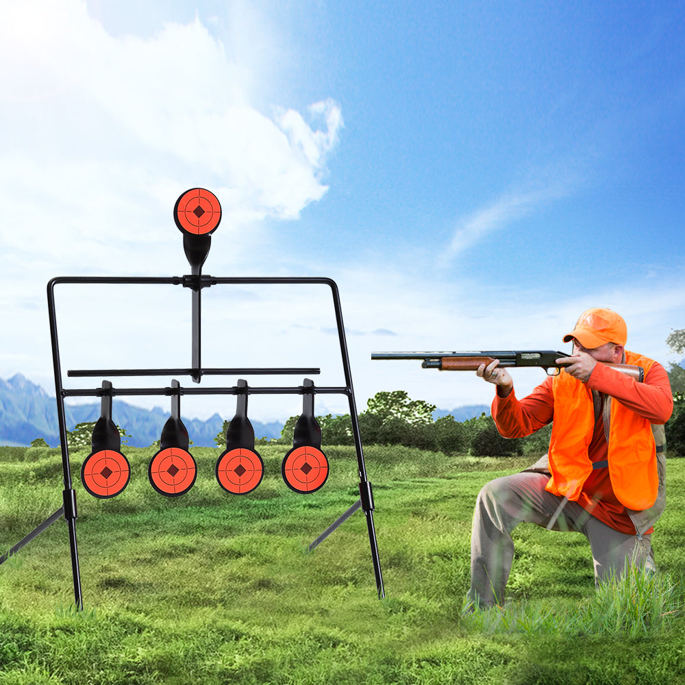5 Self Resetting Spinning Shooting Targets