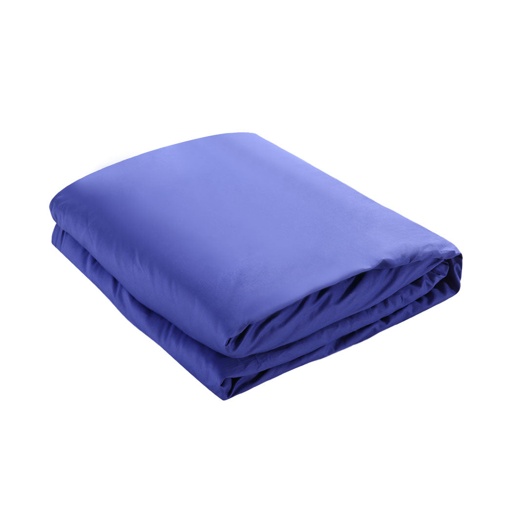 DreamZ Anti-Anxiety Weighted Blanket Cotton Cover in Royal Blue Colour