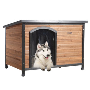 PaWz All Weather Dog Kennel Kennels Outdoor Wooden Pet House Puppy Medium