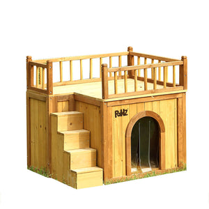 PaWz All Weather Dog Kennel Kennels Outdoor Wooden Pet House Puppy Large