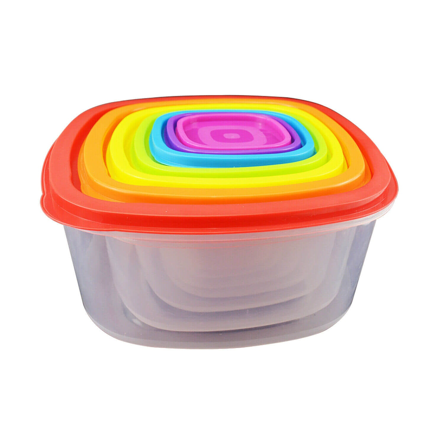 Set of 7 Reusable Bowl Food Fresh Keeping Sealing Lid Container Cover Plastic AU