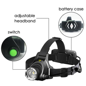 3x 500LM LED Headlamp Headlight Flashlight Head Torch Rechargeable CREE XML T6