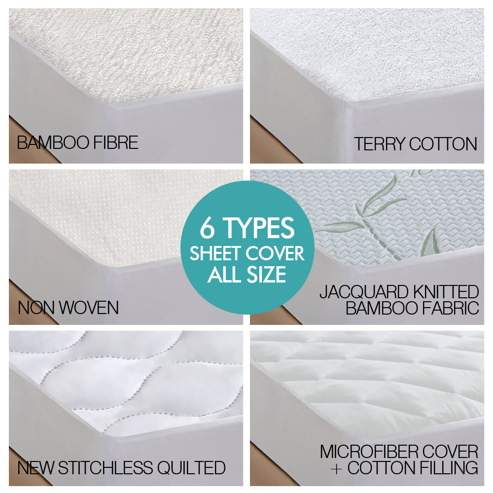 DreamZ Fully Fitted Non Woven Waterproof Mattress Protector King Single Size