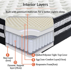 DeramZ 35CM Thickness Euro Top Egg Crate Foam Mattress in King Single Size