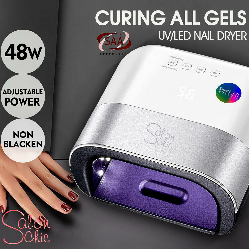 Salon Chic 48W LED UV Nail Lamp Light Gel Polish Dryer Manicure Curing Sensor