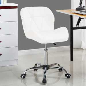 Levede Swivel Computer Desk Office Study Chair PU Leather Gaming Chair White