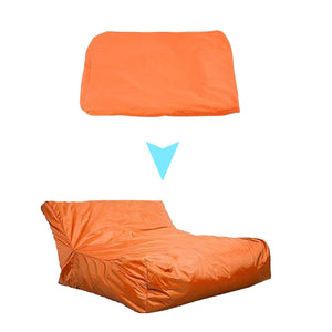 Swimming Pool Bean Bag Lounge Chair Beanbag Cover Lazychair Adult Sofa Seat Red